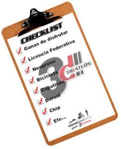 TRIATLON - Checklist Triatlética 2