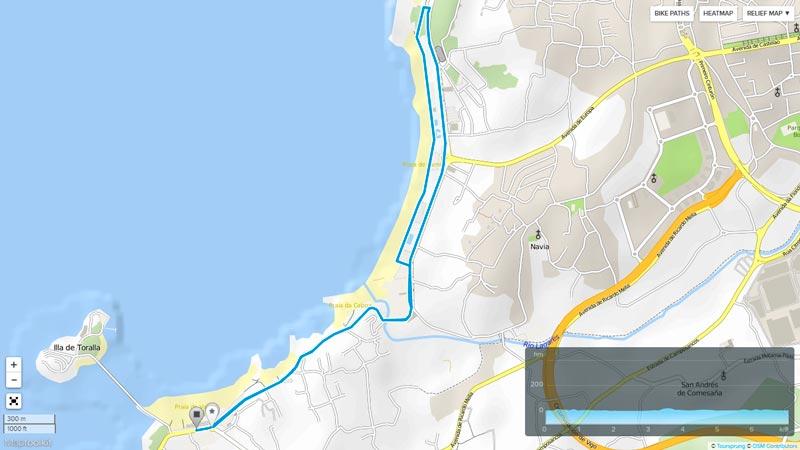 circuito de carrera a pie del triatlon islas cies