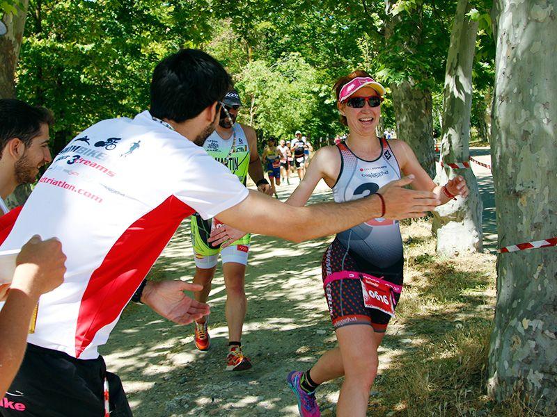 Club 3d Triatlon Madrid en el Santander Series - Sara