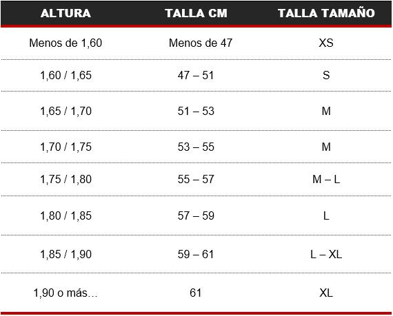 Medida de la bicicleta según la altura