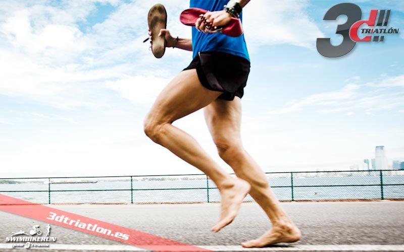 como correr descalzo