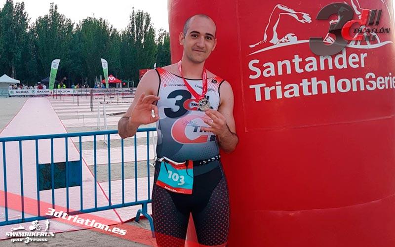 resultados y comentarios Santander Triathlon Series Madrid Acuatlón