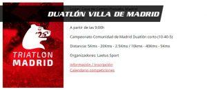 Duatlón Villa de Madrid @ Casa de Campo | Madrid | Comunidad de Madrid | España