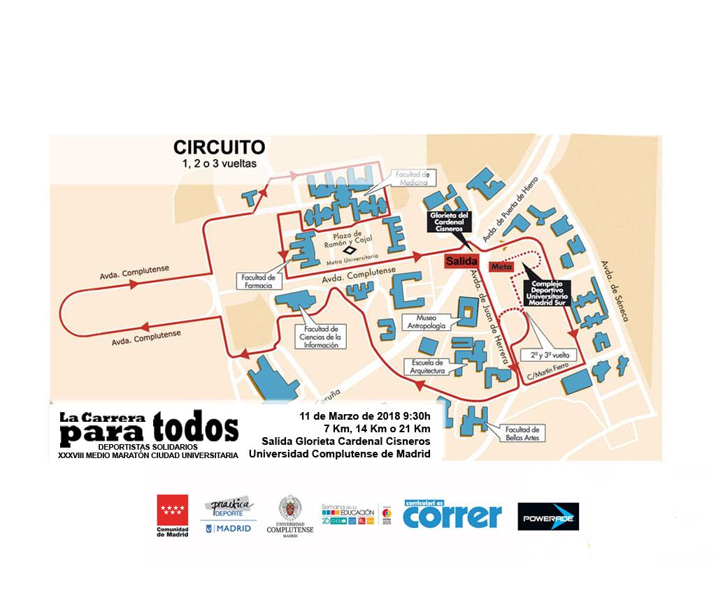 circuito carrera ciudad universitaria club 3d triatlon madrid