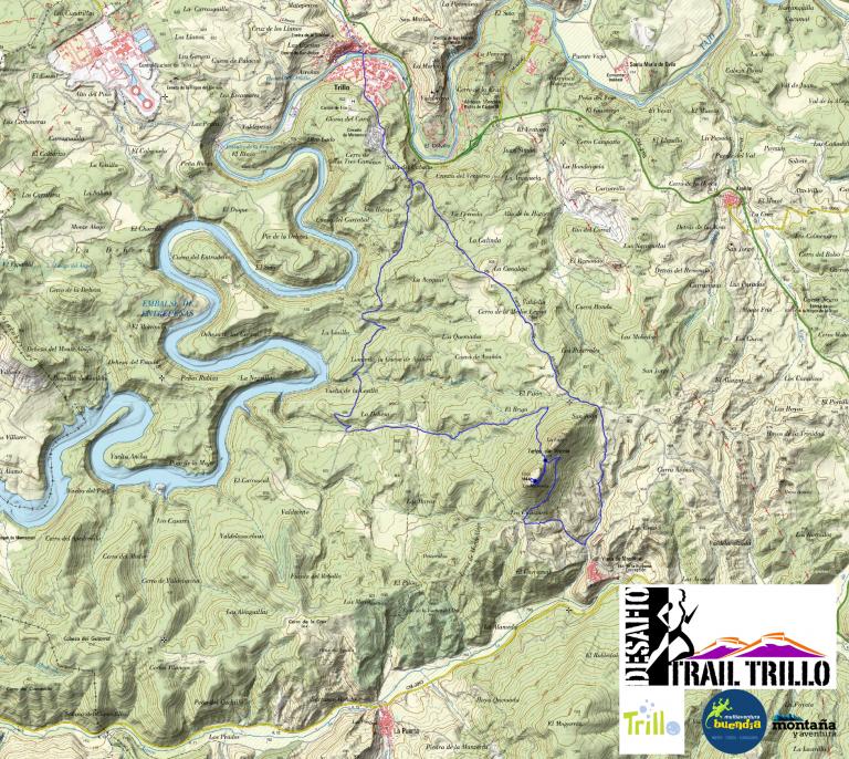 recorrido desafio x trail trillo mapa de altura