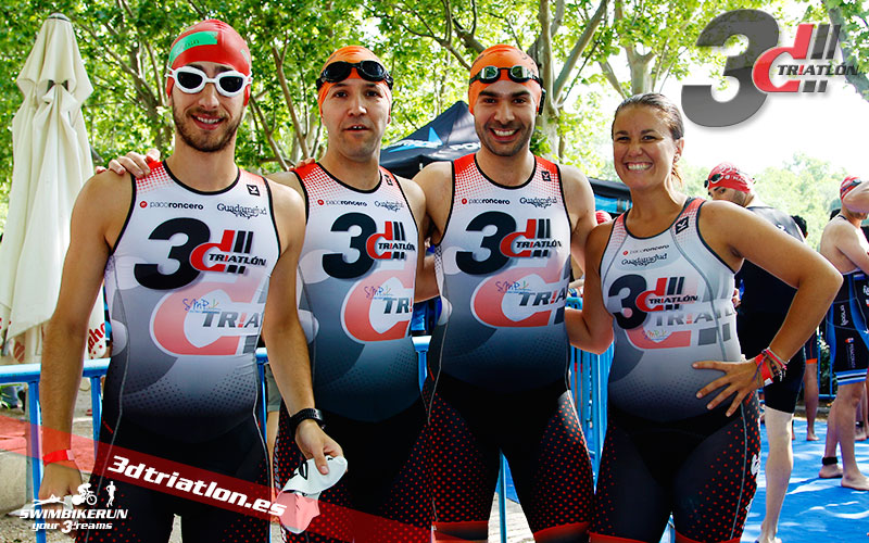 fotos del club 3d triatlon madrid en el triatlon de la casa de campo