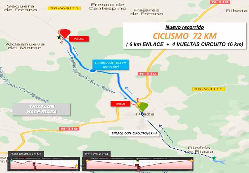 circuito de ciclismo triatlon riaza