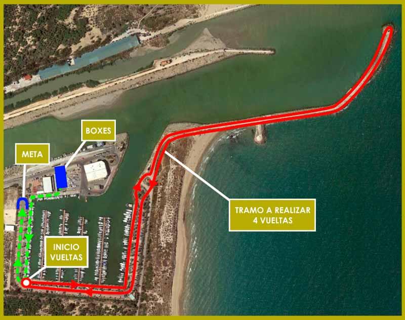 circuito de carrera del triatlón guardamar del segura
