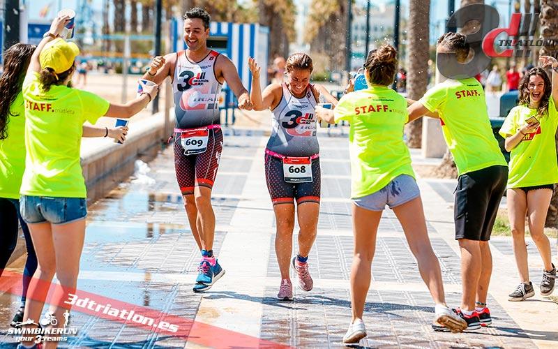 resultados de Hector y Moni en el santander triatlon series valencia