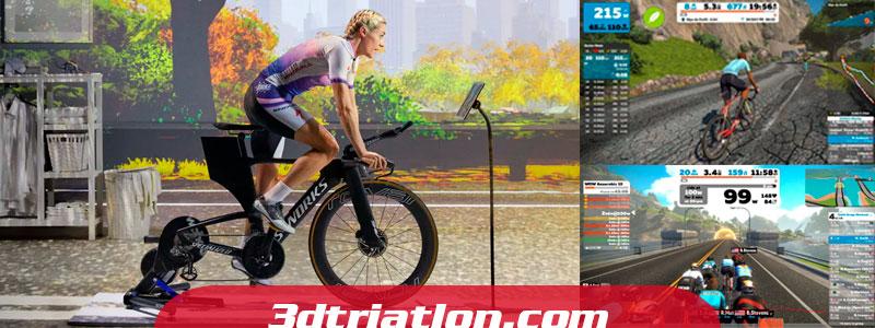 entrenamiento de triatlón en rodillo con swift