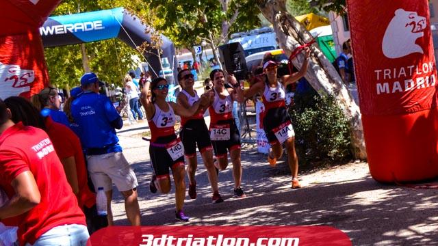 fotos del triatlon contrarreloj por equipos 2019 club de triatlón madrid
