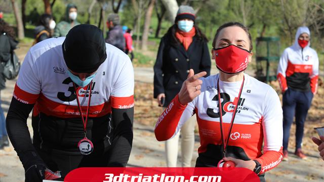 fotos maratón Madrid 2020 Club 3d triatlón 31