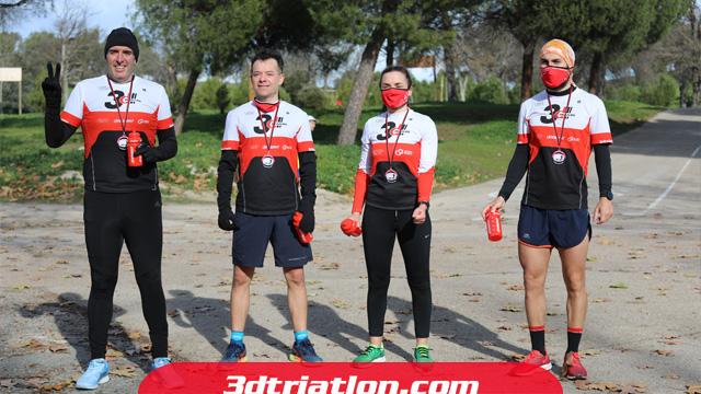 fotos maratón Madrid 2020 Club 3d triatlón 32