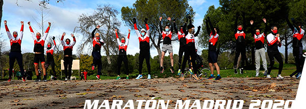 fotos maratón Madrid 2020 Club 3d Triatlón Madrid